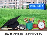 concept of higher education ... | Shutterstock . vector #554400550
