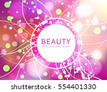 beautiful background for design ... | Shutterstock .eps vector #554401330