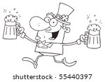 outlined male leprechaun... | Shutterstock .eps vector #55440397