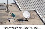 old big telecommunication... | Shutterstock . vector #554404510