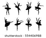 ballerina silhouette isolated... | Shutterstock .eps vector #554406988