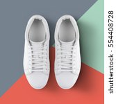 White Sneakers Isolated  On...
