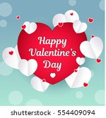valentines day card. lettering... | Shutterstock .eps vector #554409094