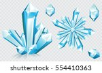 collection of blue ice crystals ... | Shutterstock .eps vector #554410363