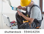 home renovation  electrical... | Shutterstock . vector #554414254