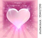 valentine's day bright heart... | Shutterstock .eps vector #554417290
