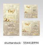 set of elegant sale banners of... | Shutterstock .eps vector #554418994