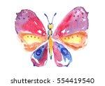watercolor butterfly. | Shutterstock . vector #554419540