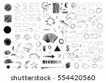 pencil sketches. hand drawn... | Shutterstock .eps vector #554420560