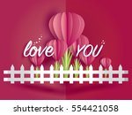 love invitation card valentine... | Shutterstock .eps vector #554421058