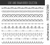 collection of cute hand drawn... | Shutterstock .eps vector #554421580