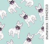 bulldog vector illustration | Shutterstock .eps vector #554425213