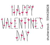 happy valentines day greeting... | Shutterstock .eps vector #554428828