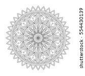 floral mandala  vector... | Shutterstock .eps vector #554430139
