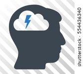 brainstorming vector icon.... | Shutterstock .eps vector #554436340