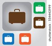 retro style luggage icon... | Shutterstock .eps vector #554443999