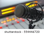 microphone in radio studio | Shutterstock . vector #554446720
