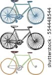 sketchy styled bicycle... | Shutterstock .eps vector #554448544