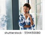 smiling beautiful black woman... | Shutterstock . vector #554450080