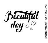 hand written lettering... | Shutterstock .eps vector #554452393