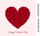 happy valentines day  card with ... | Shutterstock .eps vector #554453434
