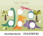school timetable with cute... | Shutterstock .eps vector #554458930