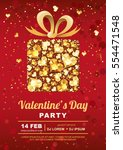 valentines day party vector... | Shutterstock .eps vector #554471548