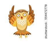 Scared Owl Cute Cartoon...