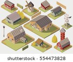 set of isometric farms with...   Shutterstock .eps vector #554473828