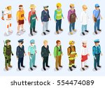 person isometric collection... | Shutterstock .eps vector #554474089