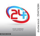 twenty four hours medical  logo ... | Shutterstock .eps vector #554476384