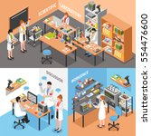 scientists laboratory concept... | Shutterstock .eps vector #554476600