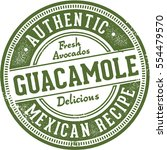 authentic recipe guacamole... | Shutterstock .eps vector #554479570