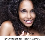portrait of a beautiful young... | Shutterstock . vector #554483998