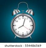 retro alarm clock realistic ... | Shutterstock .eps vector #554486569