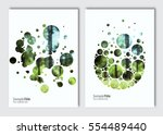 flyer layout template. vector... | Shutterstock .eps vector #554489440