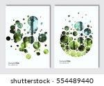 flyer layout template. vector... | Shutterstock .eps vector #554489440