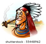 Indian Chief Smoking Tube...
