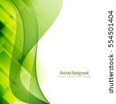 abstract green stylish...   Shutterstock .eps vector #554501404
