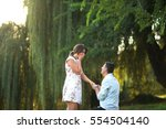 marriage proposal | Shutterstock . vector #554504140