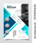 business brochure design.... | Shutterstock .eps vector #554505640