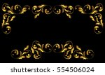 gold frame and borders. floral... | Shutterstock .eps vector #554506024