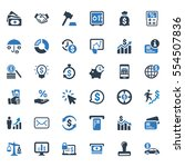 business finance icons   blue... | Shutterstock .eps vector #554507836
