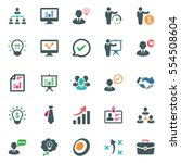 business ultimate icons  ... | Shutterstock .eps vector #554508604