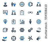 business ultimate icons   blue... | Shutterstock .eps vector #554508610