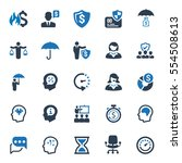 business ultimate icons   blue... | Shutterstock .eps vector #554508613