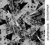 grunge geometric pattern for... | Shutterstock .eps vector #554509969