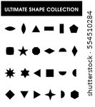the ultimate shape collection   ... | Shutterstock .eps vector #554510284