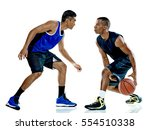 basketball players men isolated  | Shutterstock . vector #554510338