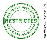 Grunge Green Restricted Round...